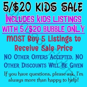 NEW 5/$20 LISTINGS ADDED!!